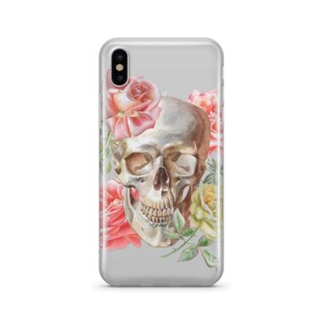 Watercolor Skull - Clear TPU Case Cover
