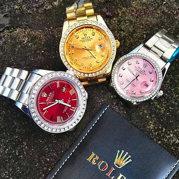 Rolex Classic Fashionable Diamond Movement Watch Business Wristwatch