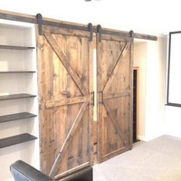 British brace/arrow vintage sliding barn doors