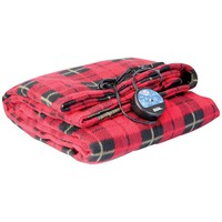 Maxsa Innovations Comfy Cruise Heated Travel Blanket (red Plaid)