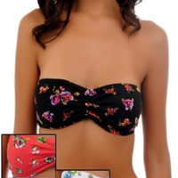 Floral Bandeau -- 4 Colors to Choose From