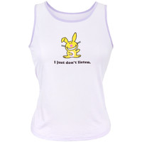 Happy Bunny - Dont Listen Juniors Tank Top