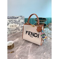 Fendi Women's Leather Shoulder Bag Satchel Tote Bags Crossbody