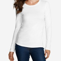 Women's Favorite Long-sleeve Crewneck T-shirt | Eddie Bauer