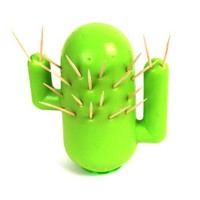 """Cactooph"" Novelty Cactus-Shaped Toothpick Holder Party Accessory"