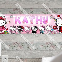 Personalized/Customized Hello Kitty #2 Poster, Border Mat and Frame Options Banner 103-2