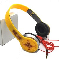 BestFyou® Headphone Over Ear with Anime One Piece (Yellow)