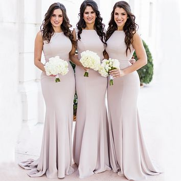 Affordable Bridesmaid Dresses, Modest Bridesmaid Dress BM0005
