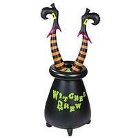 Inflatable Vinyl Witch's Cauldron - Halloween Witches Legs Decoration