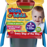 nuby wash or toss 7 oz. trainer cups (6 pack) Case of 72