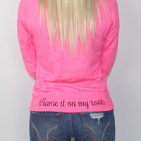 Luckless Clothing Co   Blame it on my Roots (Pink)
