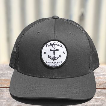 Charcoal Anchor Trucker hat