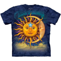SUN MOON Face The Mountain Astrology T-Shirt S-3XL NEW
