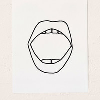 Cult Paper Mouth Art Print | Urban Outfitters