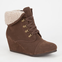 City Classified Nast Womens Booties Brown  In Sizes