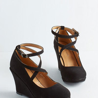 Fabled Sable Wedge in Black
