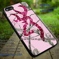 Love Browning Deer Camo Glitter Pink iPhone 6s 6 6s+ 5c 5s Cases Samsung Galaxy s5 s6 Edge+ NOTE 5 4 3 #art dt