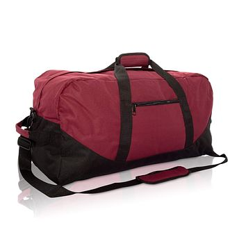 "DALIX 25"" Big Adventure Large Gym Sports Duffle Bag (Black Grey Navy Blue Red Camo) Maroon"
