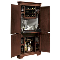 Howard Miller Norcross Hide-A-Bar Wine Cabinet  at Brookstone—Buy Now!