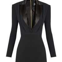 Satin-lapel mini tuxedo dress | Balmain | MATCHESFASHION.COM US