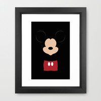 Disney - Mickey Mouse Framed Art Print by TracingHorses