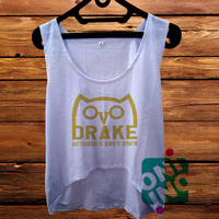 Drizzy Drake October's Very Own Ovo Ovoxo Owl Logo Crop Tank Women's Cropped Tank Top