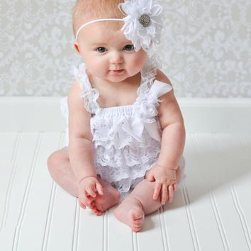 Lace Ruffle Baby Girl Summer Romper
