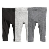 3-pack Pima Cotton Leggings - from H&M