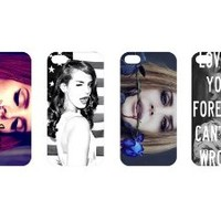 New 4pcs Super Star Lana Del Rey Fashion Back Cover Case Skin for Apple Iphone 5 5g 5s 5th Generation-i5ldr4005