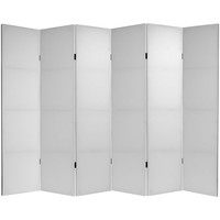 Oriental Furniture C-BLANK-6P Six Ft. Tall Do It Yourself Canvas Room Divider Six Panel, Width - 94.5 Inches