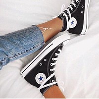 """""""Converse"""" fashion trend of men and women flat canvas sneakers shoes F"""