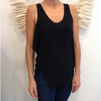 Camilla And Marc Snow Bunting Tank- Black | Shop Online at Splice Boutique
