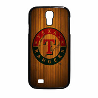 Texas Rangers Wood Pattern Samsung Galaxy S4 Case
