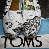 BreakFree Designs on TOMS White Canvas Shoes -Made to Order
