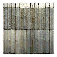 Rustic Rusty Tin Grunge Shower Curtain> Coastal, Vintage and Urban Chic Shower Curtains> Rebecca Korpita Coastal Design