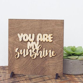 Nursery Decor Sign - Baby Shower Gift Idea - Wood Signs Sayings - Sunshine Wooden Sign - Gifts Under 15 - Stocking Stuffers - Baby Girl Gift