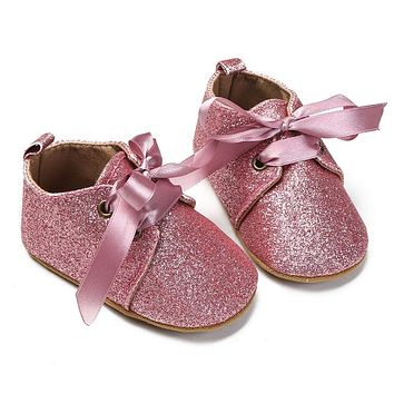 Baby Girl Shoes Cotton First Walkers Shoes For Kids Baby Girls born Soft Sole Lace Up Sequin Kids Shoes Sneakers