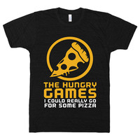 The Hungry Games, Hunger, Pizza, Parody, Funny, Cheese, Food Porn, Shirts, Tops, Clothing, Nerd, Catching, Fire, Womens, Mens