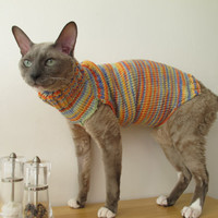 Cat's wool jumper by Catsfashionart on Etsy