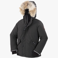 Canada Goose Kids' Youth Logan Parka with Fur Trim in Graphite - FINAL SALE