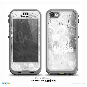 The Watered Floral Glass Skin for the iPhone 5c nüüd LifeProof Case