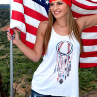 Dream Catcher-Baseball Tank