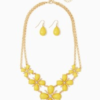 Teardrop Flower Necklace Set | Fashion Jewelry | charming charlie