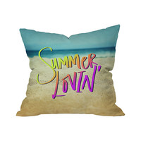 Sand and Grease Outdoor Throw Pillow
