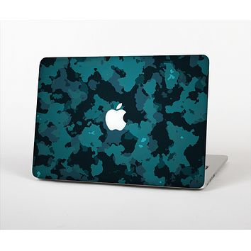 """The Teal Vector Camo Skin Set for the Apple MacBook Pro 13"""""""