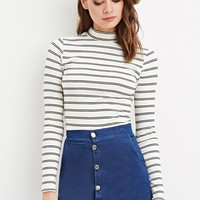 Double-Striped High-Neck Top