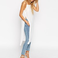 ASOS Longline High Neck Cami Top With Side Splits