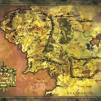 The Hobbit (Journey Map) Movie Poster