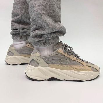 Adidas Yeezy 700 V3 Cream Men and Women's Sneakers Shoes
