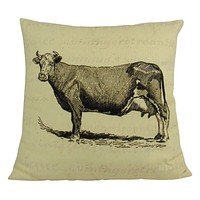 20x20 Cow | Throw Pillow | Home Decor | Primitive Decor | Cow Pillow Cover | Pillow | Farmhouse